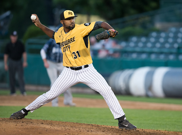 06/29/18 Wesley Bunnell | Staff The New Britain Bees were defeated 6-4 by the Southern Maryland Blue Crabs. Elvin Ramirez (31)