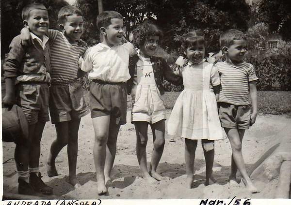 Andrada, 1956 Zé Manuel P. Barros, João Nápoles, Manuel Fernando P. Barros, Nanda Ferreira da Silva, Misita Melo Abreu e Zé Pedro Nápoles.