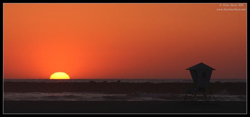 Sunset at Dog Beach, Robb Field, San Diego County, California, April 2011