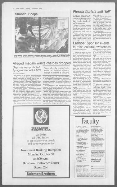 Daily Trojan, Vol. 110, No. 38, October 27, 1989