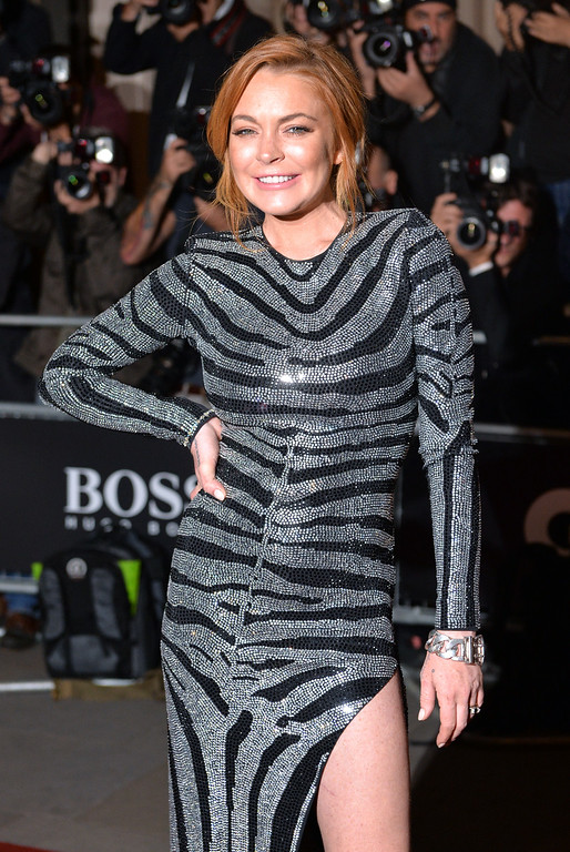 . Lindsay Lohan attends the GQ Men of the Year awards at The Royal Opera House on September 2, 2014 in London, England.  (Photo by Anthony Harvey/Getty Images)