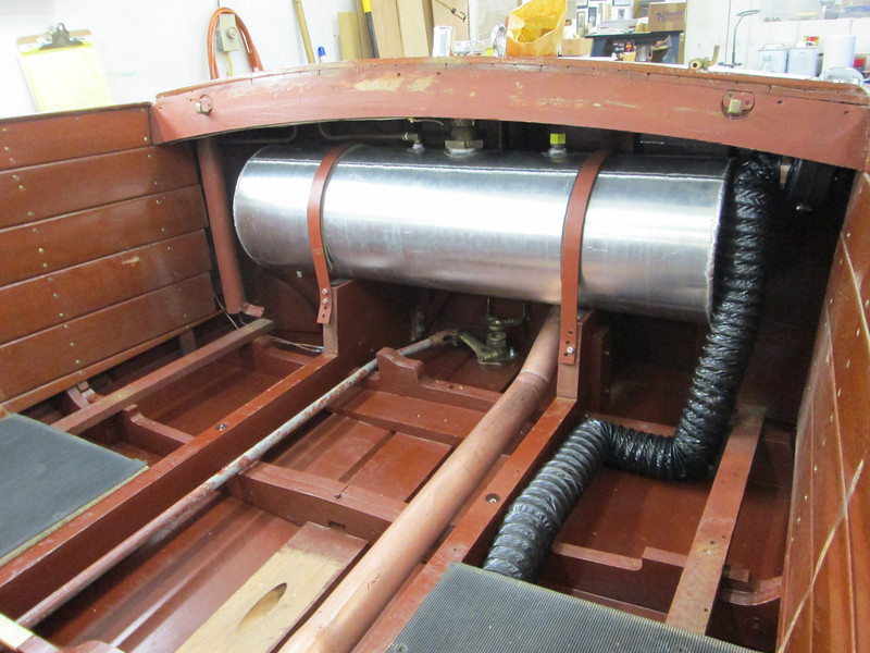 New fuel tank and bilge blower installed.