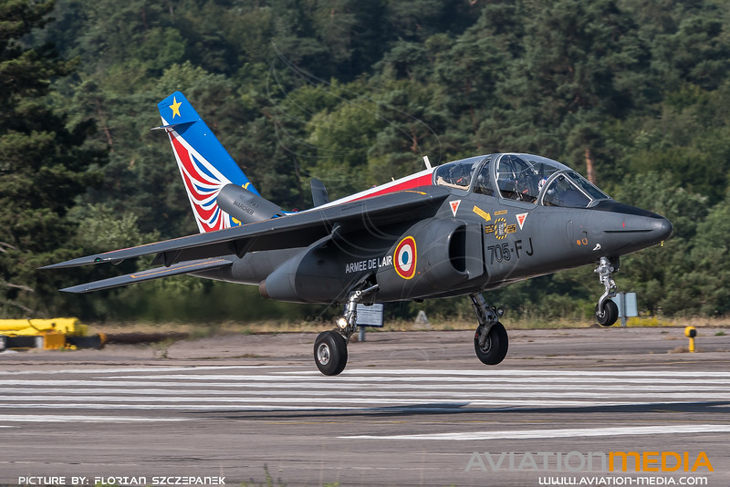 French Air Force ASD / Dassault Breguat Alpha Jet E / 705-FJ / Alpha Jet Solo Display Livery