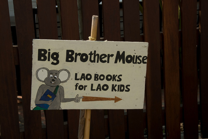 Kids Book Sign spotted in Luang Prang, Laos