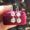 3.07ctw Double Old European Cut Dangle Earrings 2