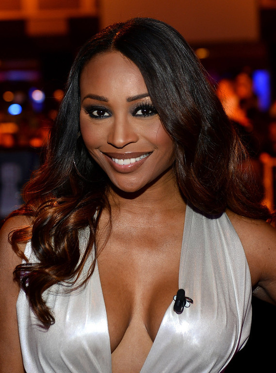 . Model and pageant judge Cynthia Bailey appears before the 17th annual Hooters International Swimsuit Pageant at The Joint inside the Hard Rock Hotel & Casino on June 27, 2013 in Las Vegas, Nevada.  (Photo by Ethan Miller/Getty Images)