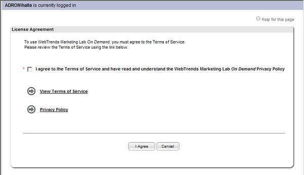WebTrends Welcome Sign In