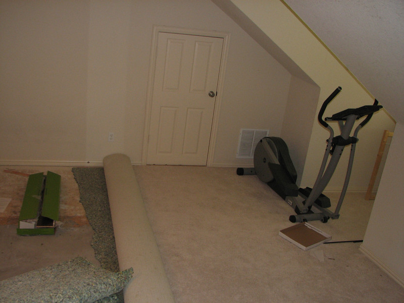 About to remove rest of carpet