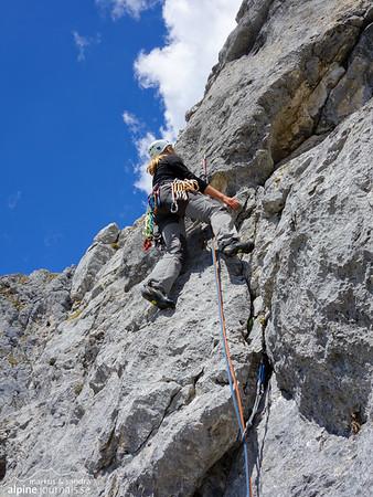 Zwerchweg alpine climbing, Zwerchwand, Tannheim, Tirol