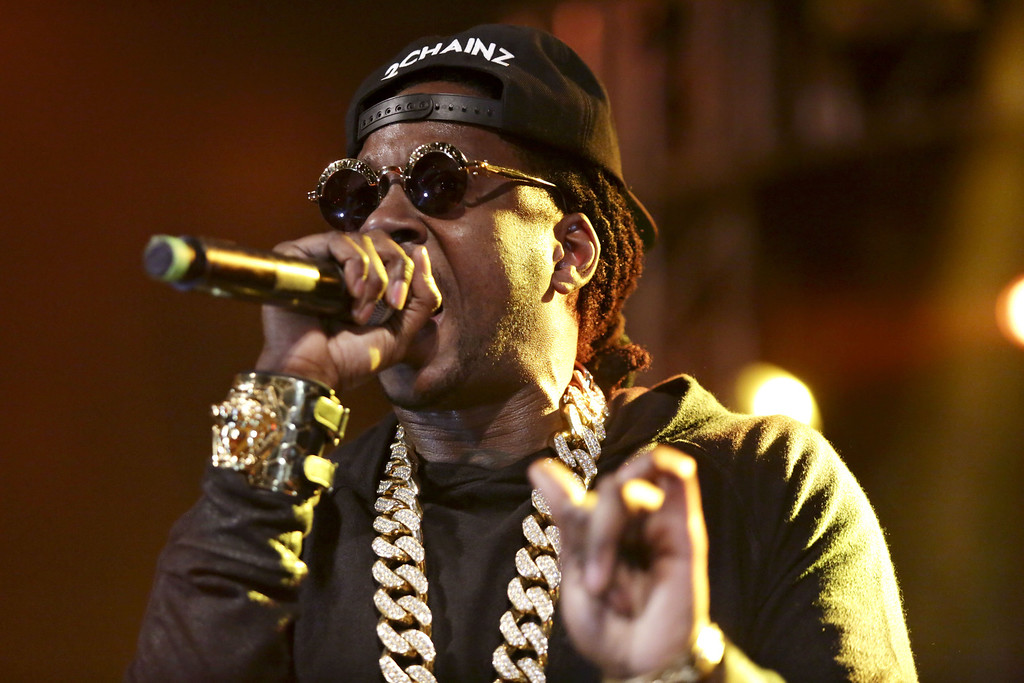 . Two Chainz performs at Stubbs BBQ for the DefJam 30th Anniversary party during SXSW Tuesday night March 11, 2014. (AP Photo/The Daily Texan, Shelby Tauber)
