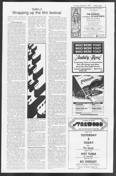 Daily Trojan, Vol. 71, No. 36, March 31, 1977