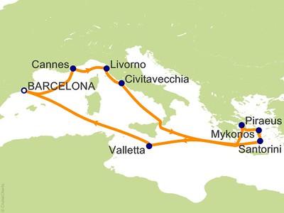 Barcelona + Mediterranean & Greek Isles Cruise 2019