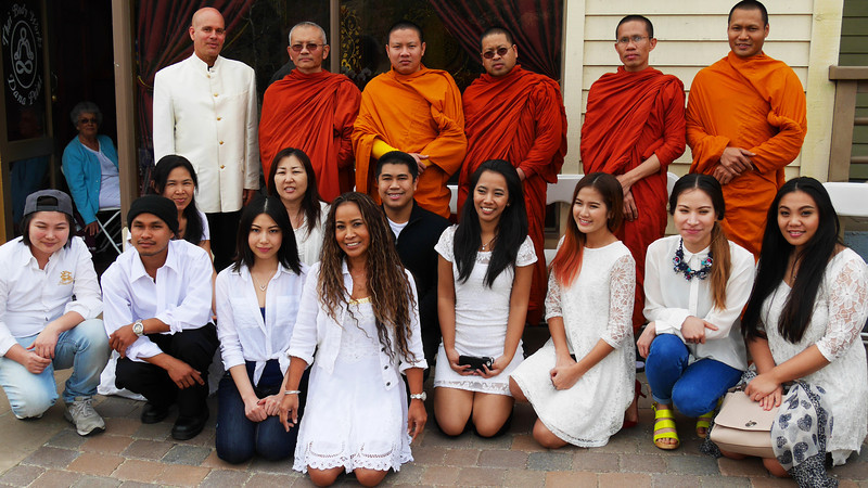 Buddhist Monks attend and bless the establishment.