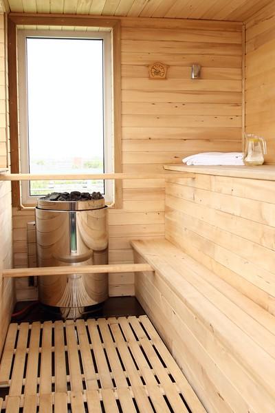 Classic wooden Finnish sauna