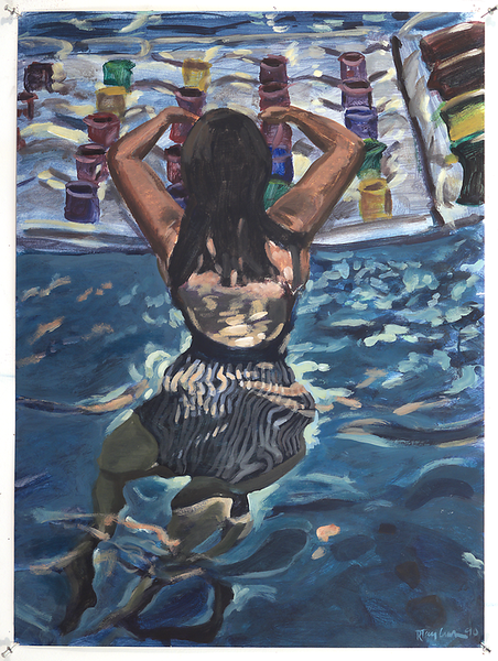 swimmer_acrylic_on_paper_1990