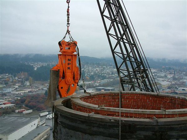 NPK M28K demolition shear on crane-commercial demolition.jpg
