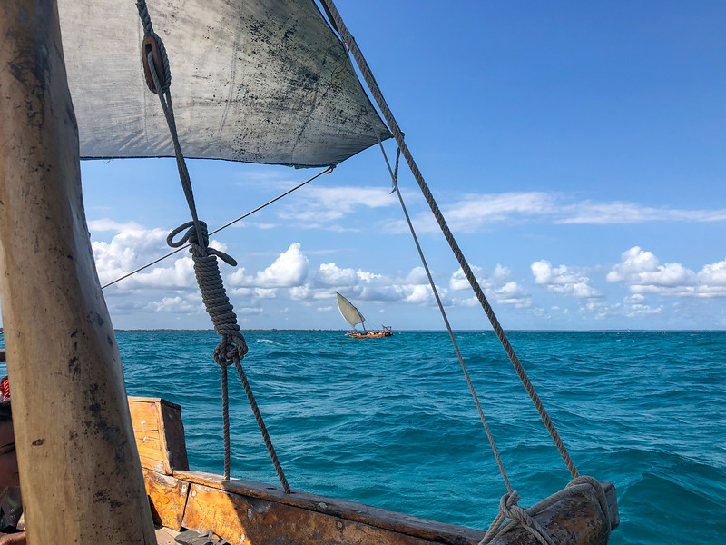 Sailing on a dhow in Zanzibar