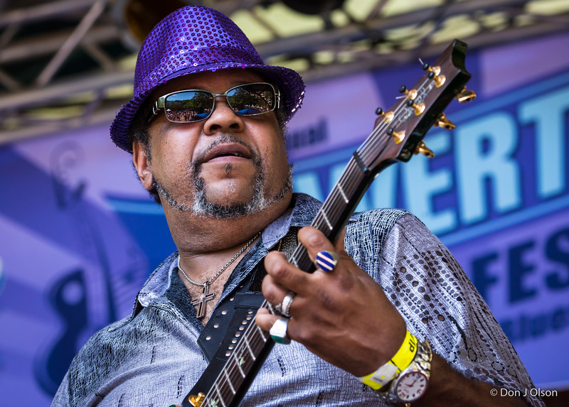Jimi Prime Time Smith--Dee Miller Band--Lowertown Blues Festival 2015-Mears Park-St. Paul MN