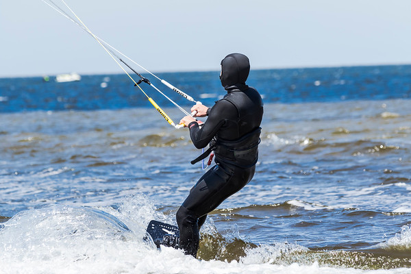 April 26, 2021 - Kiteboarding at Salvo Day Use Area