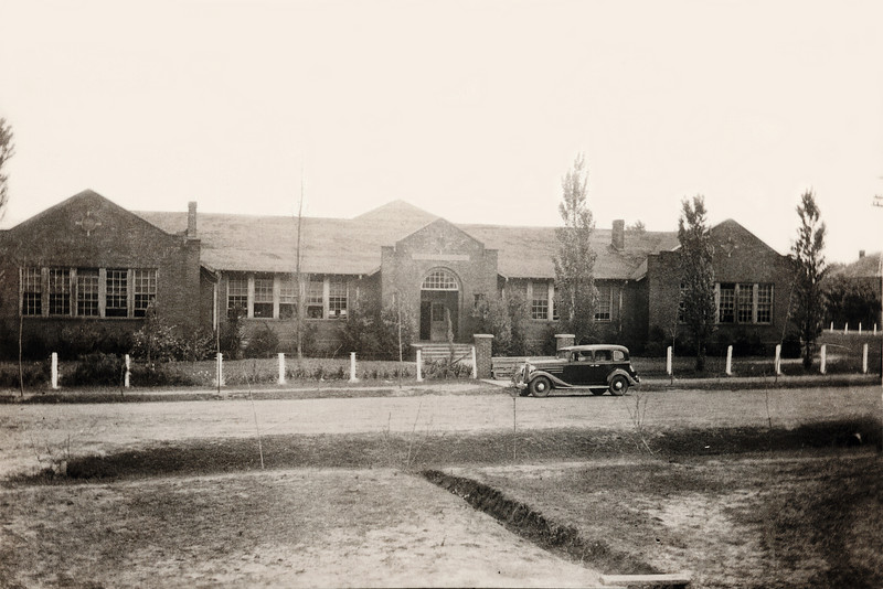 Thomaston Grammar School in 1934 on Main Street across from Thomaston Baptist Church.