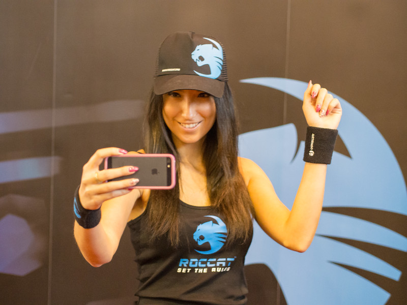 In Soviet Russia promo girl takes pictures of YOU!