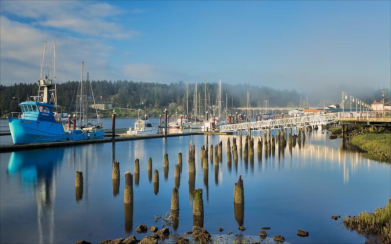 Port of Siuslaw, Oregon.