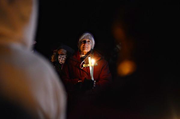 Candlelight Vigil in Bennington - 011921