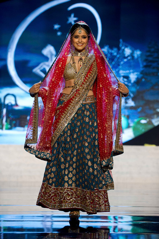 . Miss India Shilpa Singh performs onstage at the 2012 Miss Universe National Costume Show at PH Live in Las Vegas, Nevada December 14, 2012. The 89 Miss Universe Contestants will compete for the Diamond Nexus Crown on December 19, 2012. REUTERS/Darren Decker/Miss Universe Organization/Handout