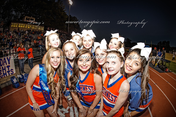 Cheerleaders  Senior night 28 Oct 2016