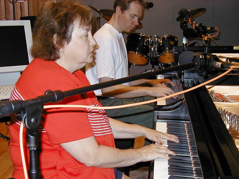 FL and Shirley Lebin jamming in the Maple Room, August 18 1999.