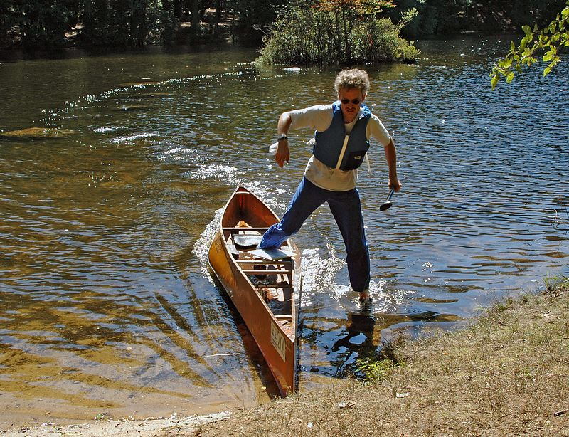JJ lands at the canoe launch   (Sep 12, 2004, 11:06am)