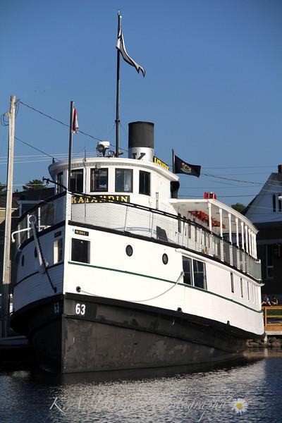 The Katahdin, docked in Greenville