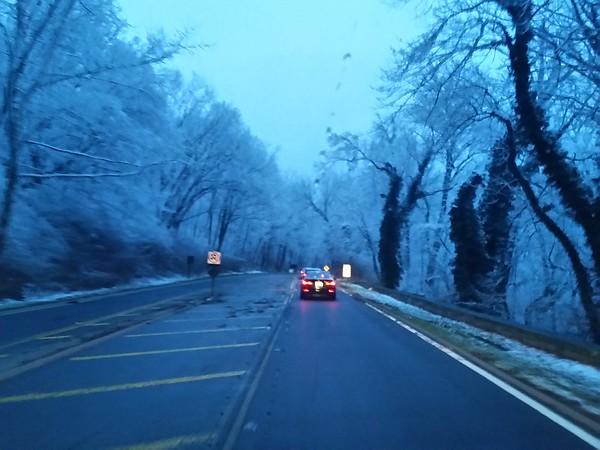 Snowy Vanpool Drive 3/4/16