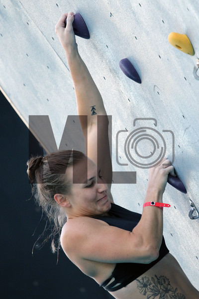 Deep Water Solo Climbing at U.S. National Whitewater Center, Charlotte, N.C., on Saturday, Aug. 31, 2019.