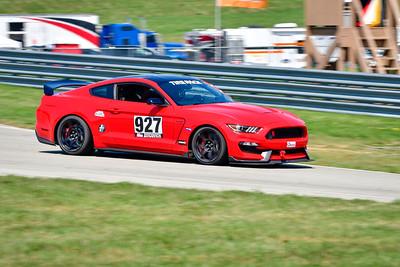 2021 SCCA Pitt Race Aug TT Warm 927 Mustang