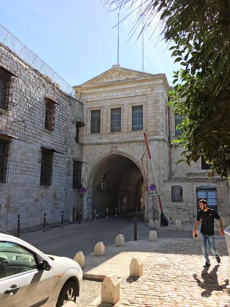 In the southwest  (Armenian) Quarter