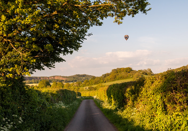 Hot air balloon in Somerset