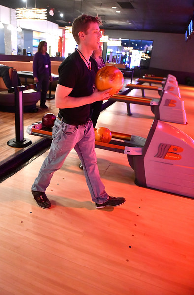 11/21/2019 Mike Orazzi | Staff Mike Pescarmona while bowling at Spare Time in Bristol.