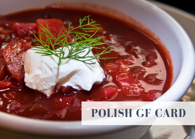poland gluten free card restaurants