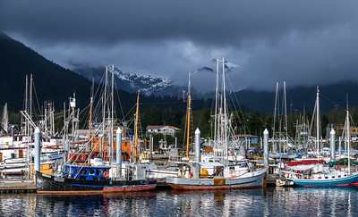 Fishing boats in Sitka Harbor, Sitka AK