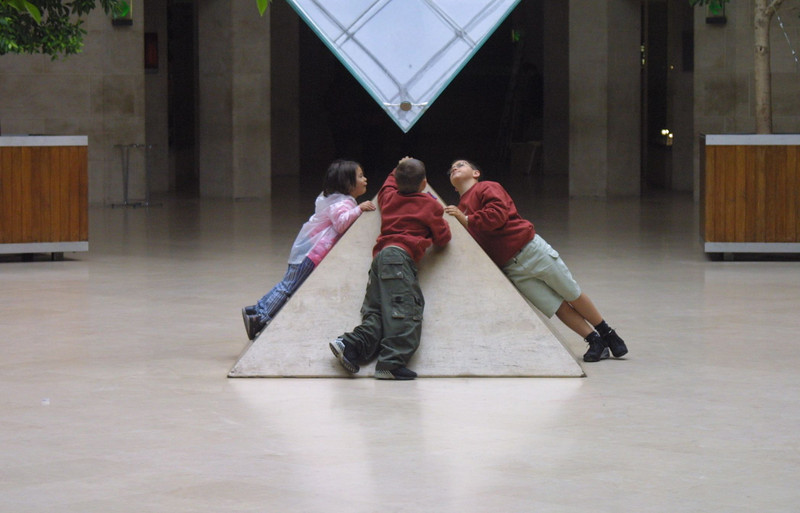 Under the Pyramid The Louvre Paris