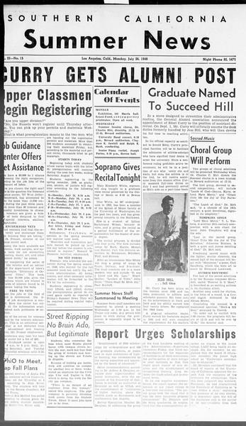 Summer News, Vol. 3, No. 15, July 26, 1948