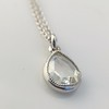 1.03ct Pear Shape Rose Cut Diamond Pendant 3
