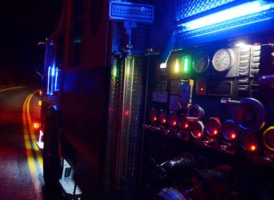 Blank Road Fire in Hemlock