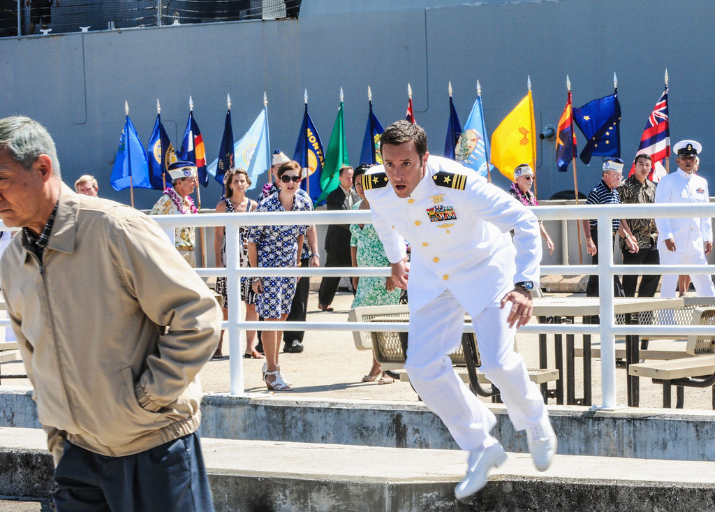 . When McGarrett (Alex O\'Loughlin ) prevents the murder of a Pearl Harbor veteran at a remembrance ceremony, Five-0 must use decades old evidence to investigate a heinous crime committed within the internment camps on Oahu during World War II, on HAWAII FIVE-0, Friday, Dec 13 (9:00-10:00 PM, ET/PT) on the CBS Television Network. (Photo by Norman Shapiro/CBS Broadcasting)