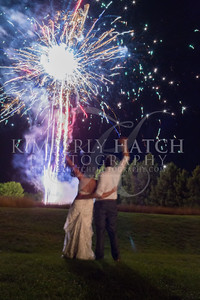 Reception Fireworks- Julie Mike Wedding-The Red Barn