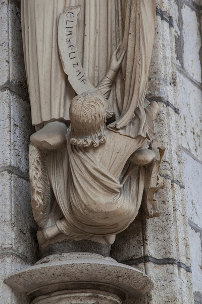 Chartres Cathedral North Porch Elijah Socle