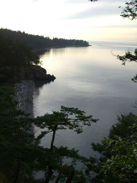 A scenic picture from the path that goes down to the beach at Deception Pass.