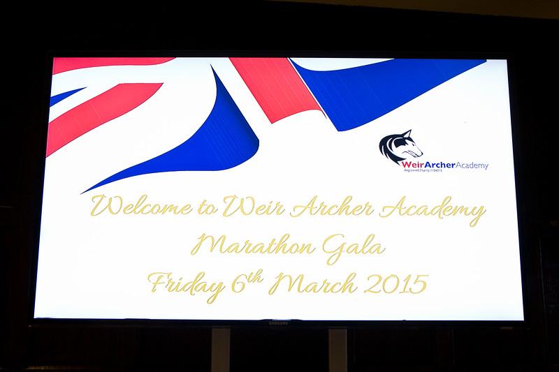 Weir Archer Academy Marathon Gala. 6th March 2015. Great Fosters, Surrey.