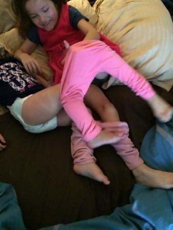 Chloe fits just fine on Kiersten clothes, amazing..